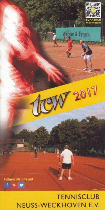 Clubheft des TCW - Ausgabe für 2017