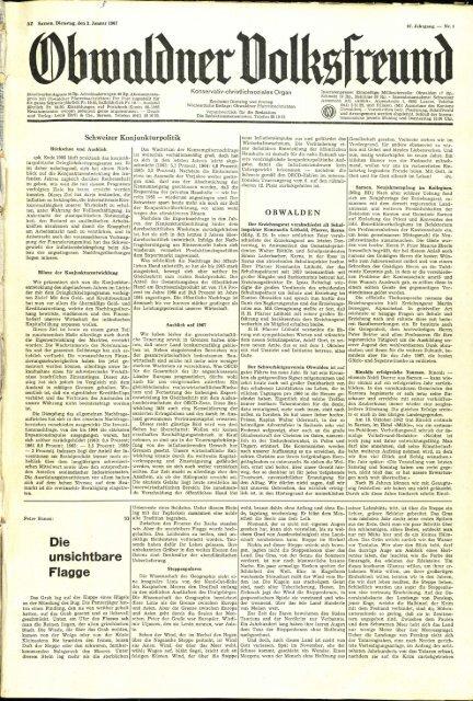 Obwaldner Volksfreund 1967