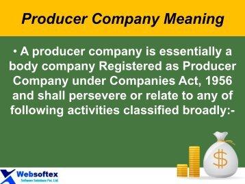 Producer Company Benefits, list of Producer Company in India, Producer Company, Producer Meaning