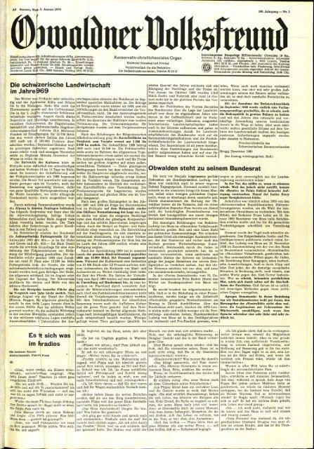Obwaldner Volksfreund 1970
