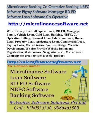 Nidhi companies online nidhi company microfinance nbfc for Loan documentation software