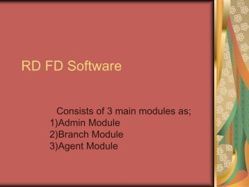 RDFD Software Admin Module, Billing Software, Accounting Software, Non-Banking