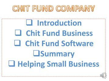Chits Funds Rules, Chit Fund Business In India, Chitty Business, Chit Manage