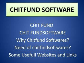 Chit Fund Agents, Chit Participants, Chitfund Reports, Chitfund Service, Chit Fund Credit