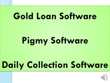 Chit Fund Pigmy, Gold Loan, Pigmy, Daily Collection Software, eCollection Software