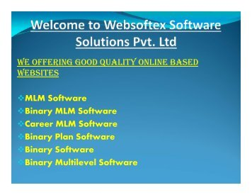 MLM Software, Binary MLM Software, Career MLM Software, Binary Plan Software, Binary Software