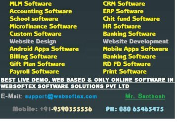 MLM CRM Accounting Chit fund Website Design