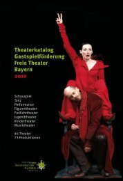 Theaterkatalog Gastspielförderung Freie Theater Bayern 2010
