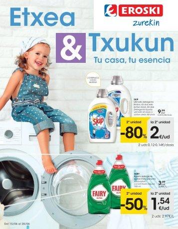 Folleto Eroski Refuerzo hogar del 15 al 28 de Junio 2017 ( Euskera-Castellano )