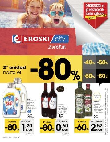 Folleto Eroski City del 15 al 27 de Junio 2017 Euskera