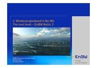 Vortrag Herr Neulinger, EnBW - Wind Energy Network