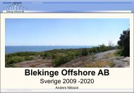 Blekinge Offshore AB - Wind Energy Network