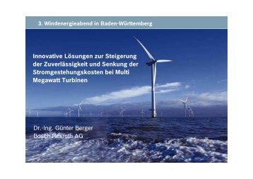 Vortrag Herr Dr. Berger, Bosch Rexroth - Wind Energy Network