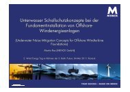 UW Schallschutzkonzepte 3. Baltic Future 04 05 2011 - Wind Energy ...