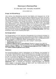 Rebvirosen in Rheinland-Pfalz - (DLR) Mosel - in Rheinland-Pfalz