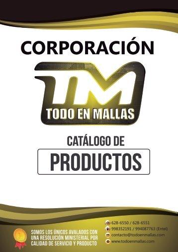 CATALOGO DE LA CORPORACION TODO EN MALLAS