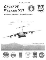 2011 Cascade Falcon Encampment XVI Annual