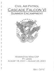 2001 Cascade Falcon Encampment VI Annual