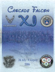 2006 Cascade Falcon Encampment XI Annual