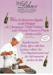LÖHRER Confiserie - Werbung seit 1988 mit edelsten Erzeugnissen