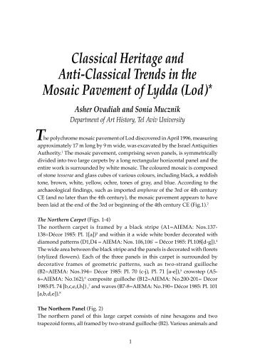 Classical Heritage and Anti-Classical Trends in the Mosaic ...