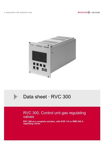 Vacuum Blower Data Sheet : Data sheet · qmg f prismaplus tm pfeiffer vacuum