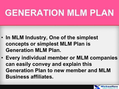 Generation Plan in MLM, MLM Generation Plan Calculator