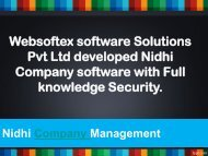 Nidhi Company Software Price, Nidhi Banking Solutions, Nidhi MLM Software