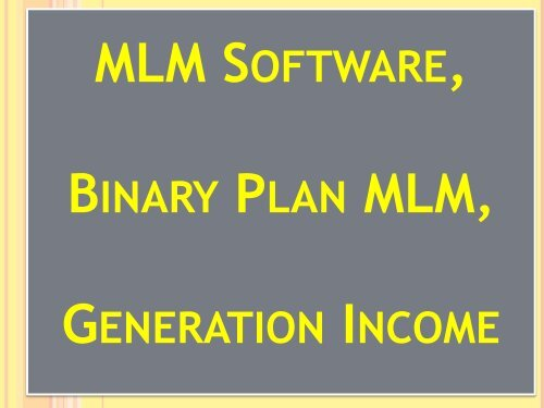 MLM Dairy, Referral Program, Binary-Repurchase, Level