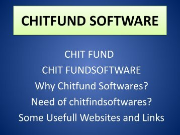 Chit Fund Agents, Chit Participants, Chitfund Reports, Chitfund Service, Chit Fund Credit