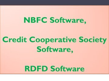 NBFC Features, NBFC Finance, NON Banking, RDFD India, RDFD Provider, RDFD Industries
