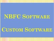 Business Loan, Non-Banking, Customized Software, Custom Software, NBFC Management