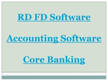 RD FD Software, FDRD Management, RD FD Company, Accounting Software, Core Banking