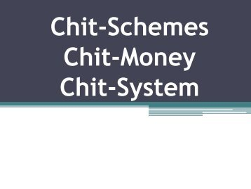 Chit Formation, Chit Information, Chit Share, Chit Market, Chit Fund Application