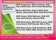MLM Companies-Matrix MLM Software-Gift And Reward MLM Plan-Binary MLM-Binary MLM Software