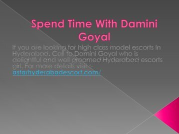 Spend Time With Damini Goyal