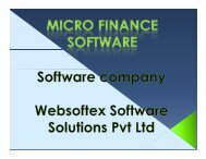 Pigmy Software, Mortgage Software, RD FD Software, Loan Software, Co-Operative Software, NBFC Software