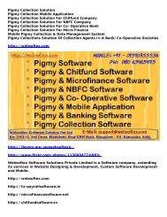 Pigmy Software, Pigmy Chitfund Software, Pigmy Microfinance, Pigmy Mobile Application, Pigmy Banking Software