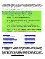 MLM Software, MLM Sunflower Income Plan, MLM Gift Income Plan, Binary MLM Plan, MLM Generation Plan