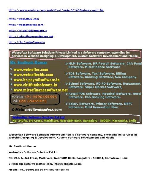 MLM Software, HR Software, ChitFund Software, Payroll