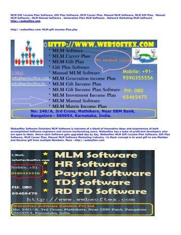 MLM Gift Plan Software, Gift Plan Software, MLM Career Plan, MLM Gift Plan, Manual MLM Software