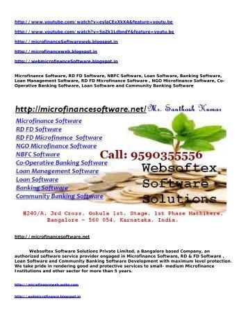 Microfinance Software, RD FD Software, NBFC Software, Loan Software, Loan Management Software, Banking Software