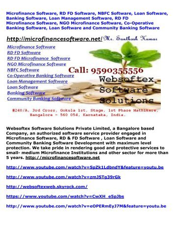Microfinance Software, NGO Microfinance Software, Co-Operative Banking, Loan Software, Banking Software