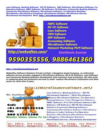 Microfinance Software, Co-Operative Software, NBFC Software, RD Software, FD Software, Community Banking Software