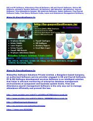 ESI and PF Software, Attendance Payroll Software, HR and Payroll Software, Biometric System Software