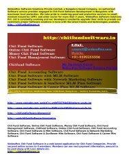 Online Chit Fund Software, Chit Fund Accounting Software, Chit Fund & Mlm Software, Online Chit Fund