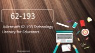 ExamGood Microsoft 62-193 Technology Literacy for Educators Exam Dumps Questions