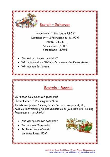 Kidsweb Weihnachtsgedichte.Basteln Mosaik Lehrerweb