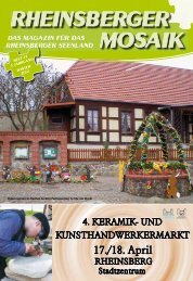 RHEINSBERGER MOSAIK - Stadt Rheinsberg