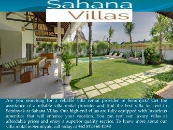 Villa for rent Seminyak